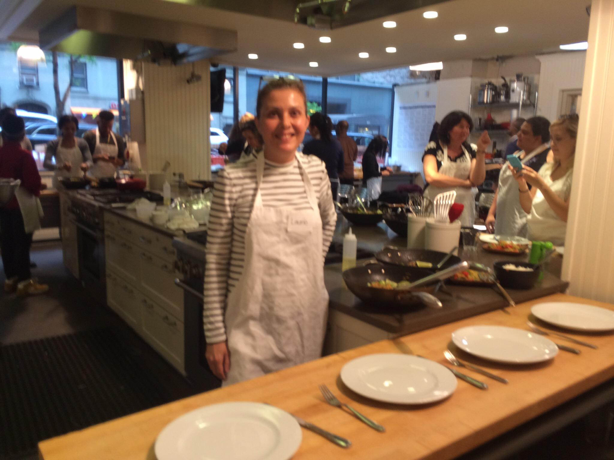 Cooking lesson at Sur la Table